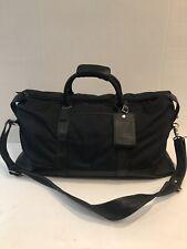 Auth COACH #5497 Black Nylon Leather Boston Bag With Padlock and Keys