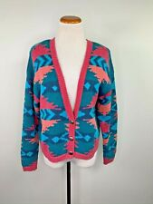Vintage Nuovo Southwestern Aztec Button Front Cardigan Size Large