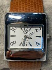 Ladies  Rexx of Paris Silver Tone Bangle Quartz Watch New Battery