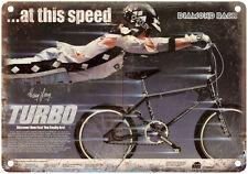 "Diamond Back BMX, racing Harry Leary RARE ad 10"" x 7"" retro metal sign"