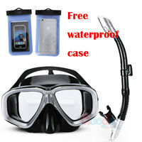 Adults Snorkelling Scuba Mask and Dry Snorkel Set Swimming Diving Equipment Tube