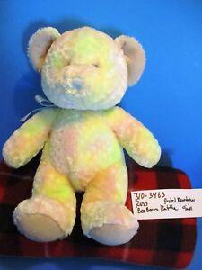 Russ Boo Bears Pastel Rainbow Rattle Teddy Bear plush(310-3463)