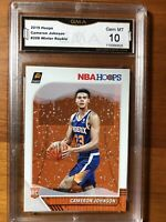 2019-20 NBA Hoops Cameron Johnson Winter Parallel RC Gem Mint 10 Phoenix Suns