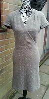 Gorgeous PAUL & JOE Beige 'Fleck' Wool Mix Dress, Size EU 38 (UK 10)