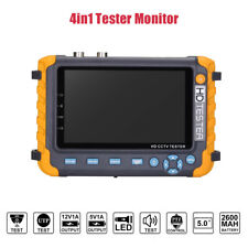 5'' LCD CCTV Tester Monitor Support 5MP TVI/AHD 4MP CVI Camera HDMI/VGA Input