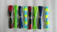 50pcs soft lure ,octopus lure,fishing skirt. silico skirt,random colour mixed