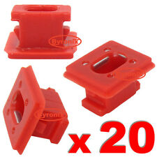BMW E46 3 E65 7 X3 E85 DASHBOARD DASH TRIM STRIP CLIPS RED INSERT GROMMETS