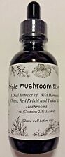 Triple Blast: Chaga, Reishi, Turkey Tail Mushroom Double Extract Tincture 2 oz
