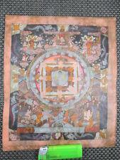 altes original Thangka Buddha + Mahakala etc Gemälde a. Tibet geweiht  signiert
