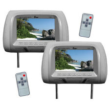 "New T726Plgr Tview 7"" Tft/Lcd Car Headrest with MonitorPair Gray"