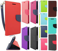 For HTC Desire 510 Leather 2 Tone Wallet Case Pouch Flip Phone Cover Accessory