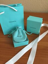 Authentic Tiffany & Co. Empty Jewelry Gift Box, Draw String Pouch, Bag & Ribbon