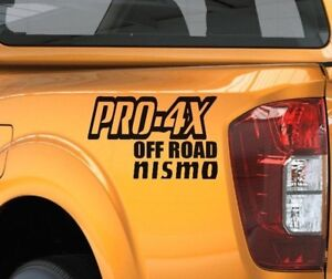 Truck Pro4X Decals For Nissan Titan Frontier Vinyl Stickers, 4x4 Graphics 5.6L