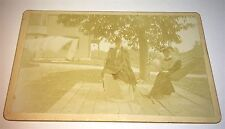 Antique Victorian American ID'd Women, Hammocks! CDV Sized Cabinet Photo! Windy!