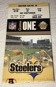 Jets v Steelers 2004 AFC Division Playoffs Game #1 Ticket Stub Big Ben Rookie RC