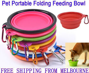 Pet Portable Folding Bowl Dog Cat Food Feeding Water Feeder Collapsable Travel