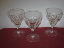 "VAL ST. LAMBERT  ""RIVIERA""  WATER GOBLETS  --  3"
