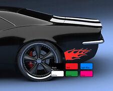 2 X Flame Large 120 Car Sticker Racing Fire Sport Drift Tuning Vinyl  Decal Art
