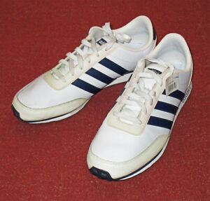 ADIDAS NEO Mens V-JOGGER/Running/Gym Shoes Trainers UK 10 White/Navy Blue -NEW
