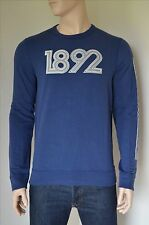 NEW Abercrombie & Fitch Classic Logo Graphic Crew Neck Sweatshirt Blue L