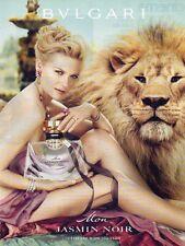 Publicité Advertising 2011  Parfum BVLGARI Mon JASMIN NOIR  ..
