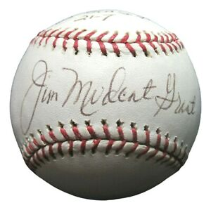 Hank Bauer Moose Skowron Signed Autographed Baseball OML Ball PSA/DNA AI43486