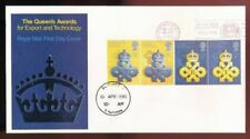QUEEN'S AWARD - Doncaster...1990 FDC First Day Cover...Fast Post