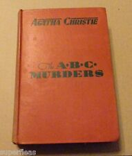 Late 1936 Red board Grosset & Dunlop edition • The ABC Murders • Agatha Christie