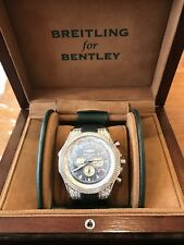 Breitling Bentley GMT Watch 18K White Gold 49mm, w/ Diamonds. Number 6 of 25.