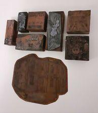 More details for mixed lot vintage metal/wood advertising print blocks.