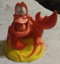 HTF Disney The Little Mermaid Sebastian Crab RUBBER Plastic Bank with Stopper