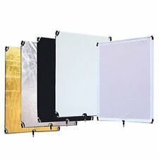 "STUDIO 5-IN-1 FLAG PANEL DIFFUSER REFLECTOR 80X100CM W/1/4"" SPIGOT THREADED SCRE"
