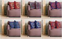Indian Peacock Mandala Cushion Cover Square Floor Pillow Large Sofa Bed Decor