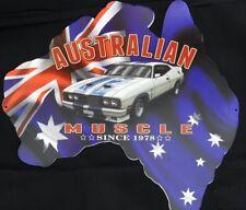 AUSTRALIAN MUSCLE 1978 XC COBRA. ALL WEATHER METAL SIGN DIE CUT MAP OF AUSTRALIA