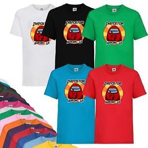New Kids Boys Girls Among Us Game T-shirt Impostor Crewmate Gaming Tee Xmas Gift