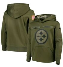 NEW Pittsburgh Steelers Nike Salute to Service Pullover Hoodie YOUTH S SMALL