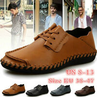 New Fashion Men's Casual Genuine Leather Shoes Korean Leisure Shoes Flats Shoes