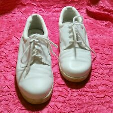 Dr. Scholl's Women's White Leather Sneakers Nursing Shoes Size 8W