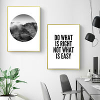 Inspirational Quote Wall Art Canvas Posters Mountain Landscape Prints Home Decor