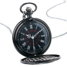 Pilotenuhr Herrenuhr Taschenuhr Herren mechanisch Uhr in schwarz