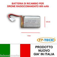 BATTERIA RICAMBIO DRONE X8 RADIOCOMANDATO 600 mAh 3,7 V QUADRICOTTERO ELICOTTERO
