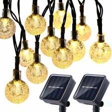 Lot de 2 guirlandes lumineuses solaires de 20 m 30 LED - Étanche - 8 modes -