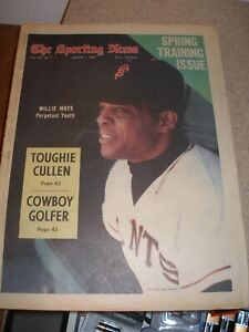 March 1969 The Sporting News - Willie Mays San Francisco Giants HOF Slugger
