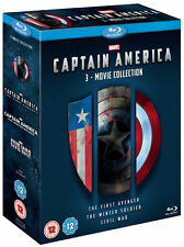 CAPTAIN AMERICA 1-3 Complete 1 2 & 3 Trilogy Collection Civil War Boxset BLU-RAY