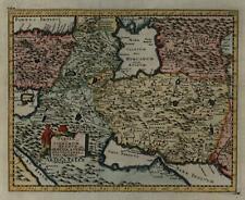 Persia Iran Caspian Armenia Turkey 1711 decorative Cluver map lovely hand color