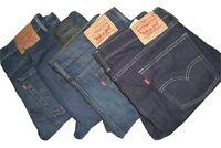Mens LEVIS 510 Dark Blue Skinny Fit Denim Jeans W32 W34 W36