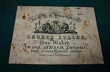 George Fuller Gunmaker riproduzione carta Gun Case Accessori etichetta