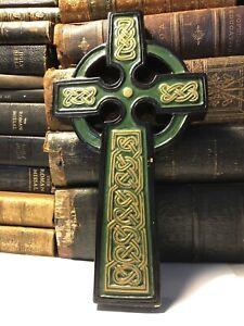 Celtic Cross Hanging Plaque Statue   Reconstituted Resin Vintage Garden Ornament