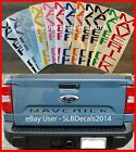 FITS 2022 Ford Maverick Tailgate Indent Decals   --- MANY COLORS TO CHOOSE FROM  for sale