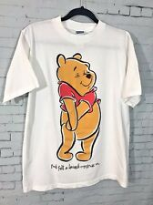 Vintage 90's Winnie-the-Pooh Bear White T-Shirt Disney Unisex Size Large VTG EUC